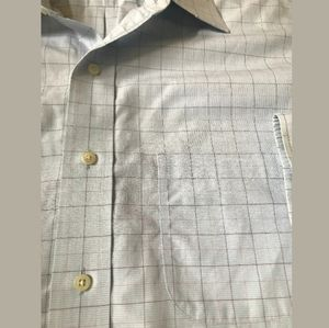 BROOKS BROTHER Oxford Blue Pane Shirt - Size 16.5